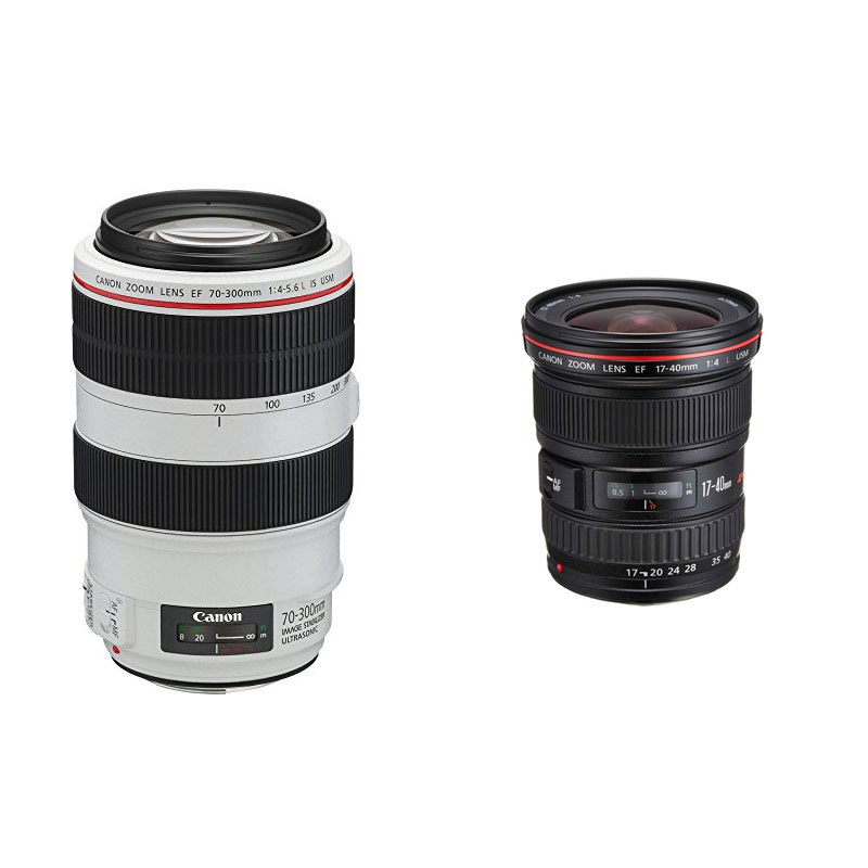 Noleggio obiettivi Canon EF 70-300mm ed EF 17-40mm